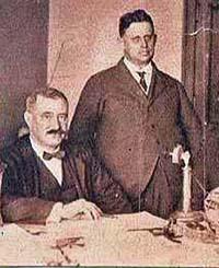 Oscar Paradis (assis) et Uldéric Tremblay