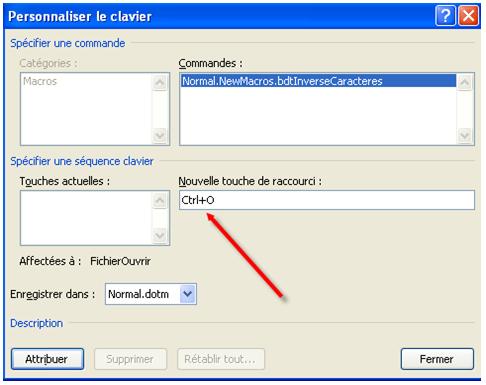 Capture d'écran de l'interface Microsoft Word