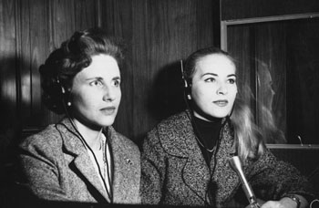 Picture of Thérèse Romer and Andrée Francœur.