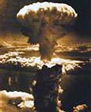 Atomic bomb over Hiroshima